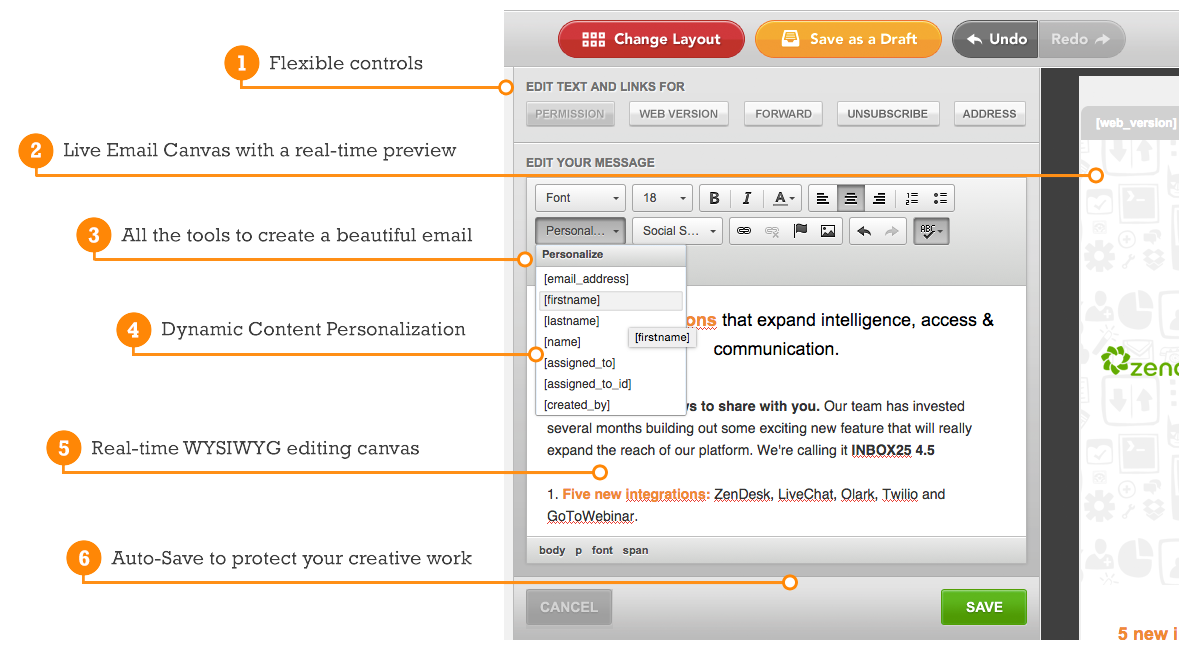 Intuitive Email Editor